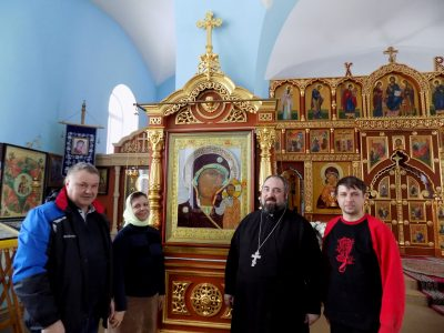 Освящена икона Пресвятой Богородицы для Казанского храма села Трофимовка