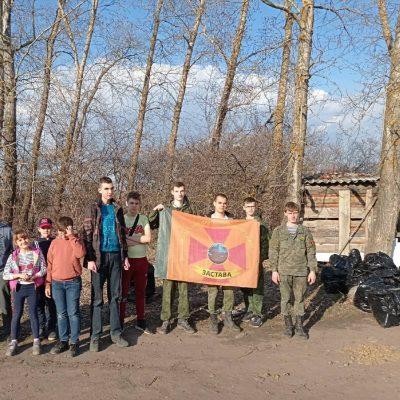 Воины пензенской православной дружины «Застава» приняли участие в субботнике