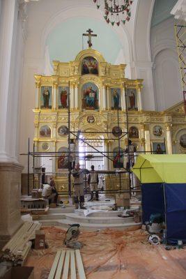 В Спасском кафедральном соборе завершена установка иконостаса