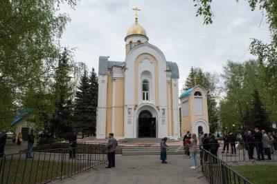 В храме Архистратига Михаила в Пензе состоялся благодарственный молебен за дарование Победы в Великой Отечественной войне