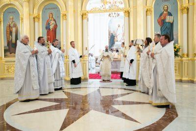 В день празднования Собора Пензенских святых иерархи Пензенской митрополии совершили литургию в Спасском кафедральном соборе