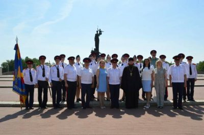 Священник Виктор Сторожев напутствовал кадетов-казаков после окончания курса военно-технических дисциплин