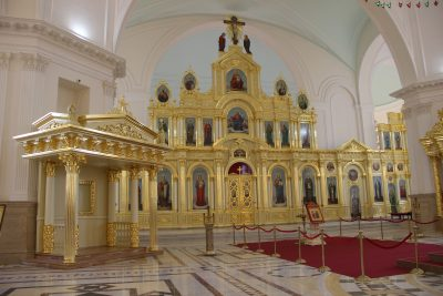 В Спасском кафедральном соборе завершена установка сени