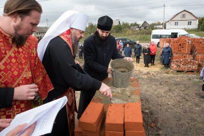 В селе Варваровка состоялась закладка храма в честь преподобного Сергия Радонежского