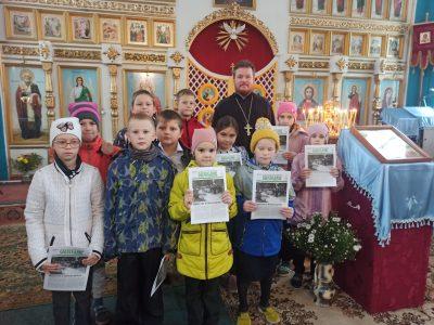 Успенский храм села Елизаветино посетили с экскурсией учащиеся начальных классов