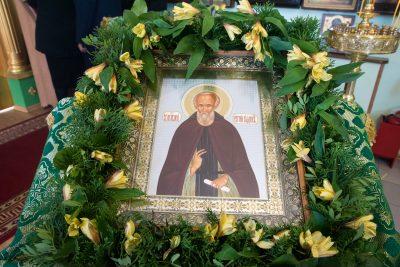 В день памяти преподобного Сергия Радонежского митрополит Серафим совершил литургию в храме преподобного Сергия в селе Саловка